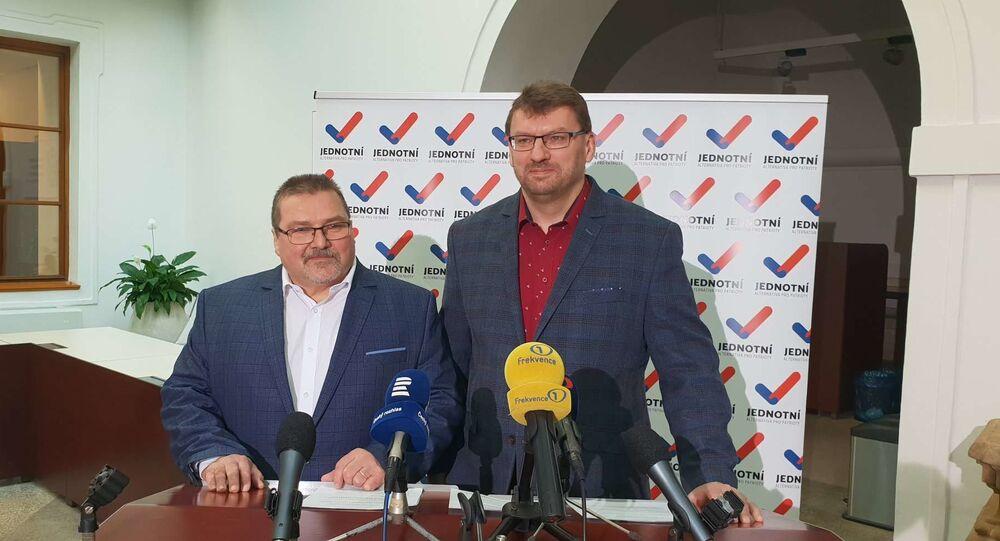 Poslanci Marian Bojko a Lubomír Volný