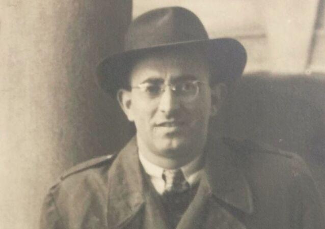 Válečný veterán Bernard Papánek v Brně, rok 1947