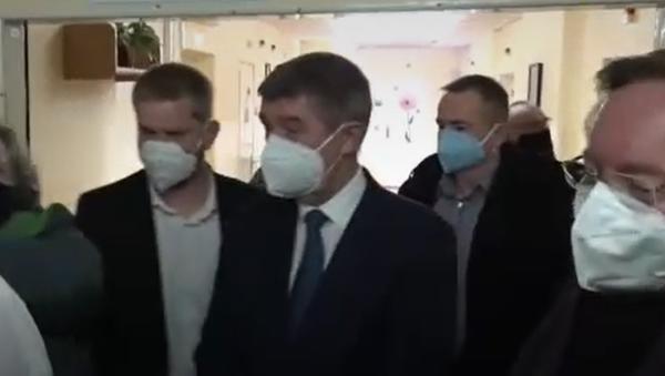 Babiš se účastní otevření očkovacího centra na Vinohradech - Sputnik Česká republika