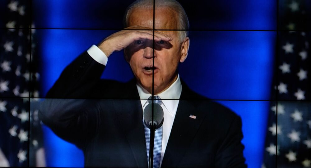 Kandidát na prezidenta USA za Demokratickou stranu Joe Biden
