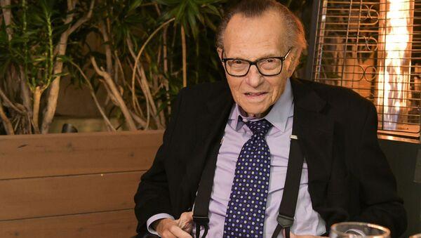 Televizní moderátor Larry King - Sputnik Česká republika