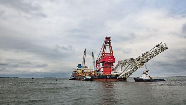 Loď na pokládku potrubí Fortuna - Sputnik Česká republika