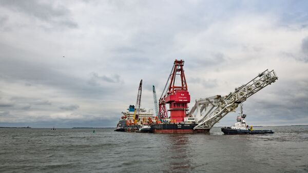 Fortuna pokládá plynovod Nord Stream 2 - Sputnik Česká republika