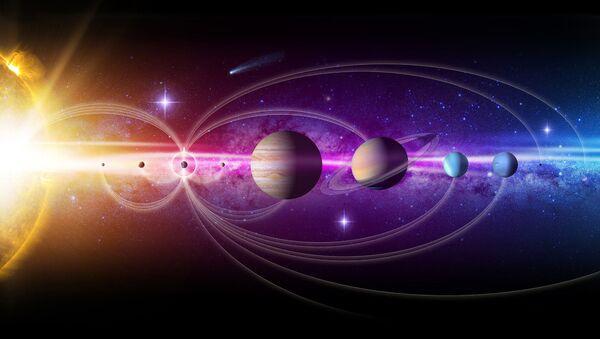 Umělecké znázornění sluneční soustavy - Sputnik Česká republika