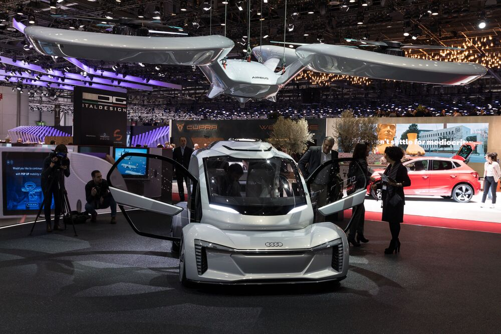 Koncept bezpilotních elektromobilů Audi AG, Airbus a ItalDesign Giugiaro