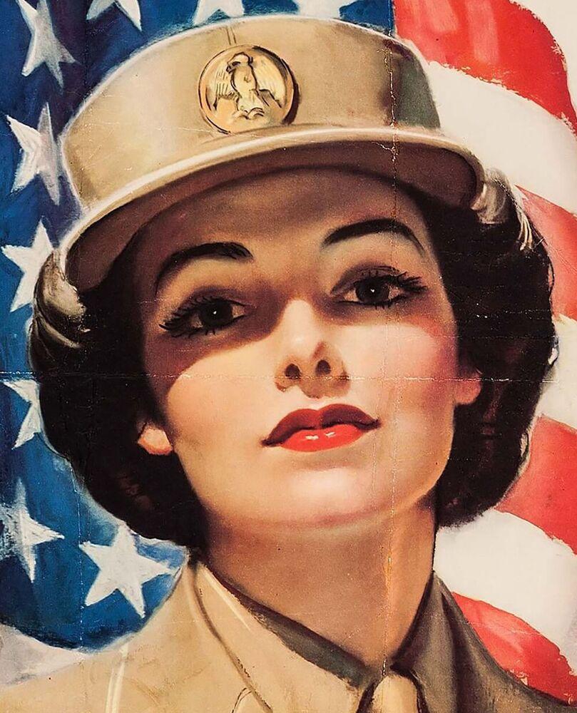 Plakát branné povinnosti dívek v ženském sboru americké armády v roce 1943