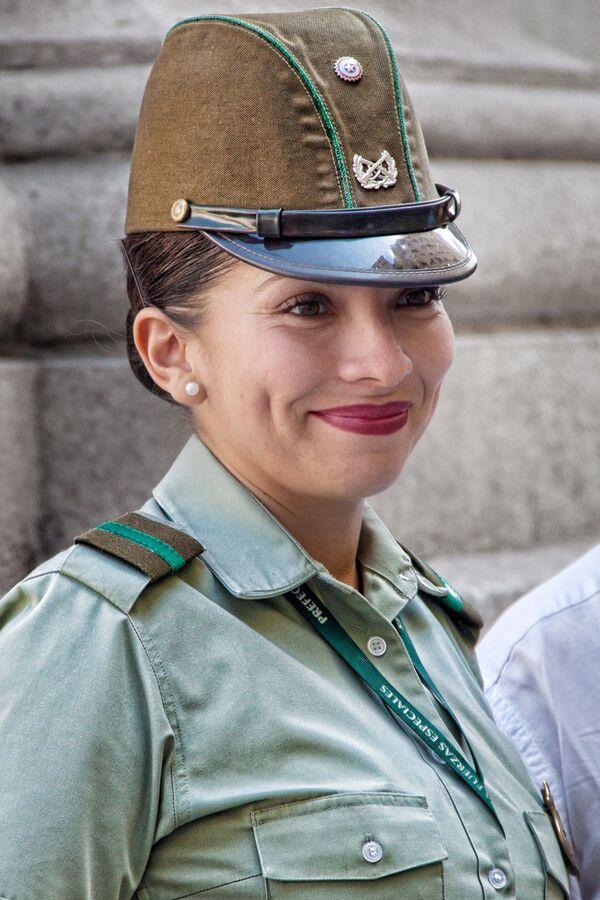 Vojačka v Santiago, Chile - Sputnik Česká republika