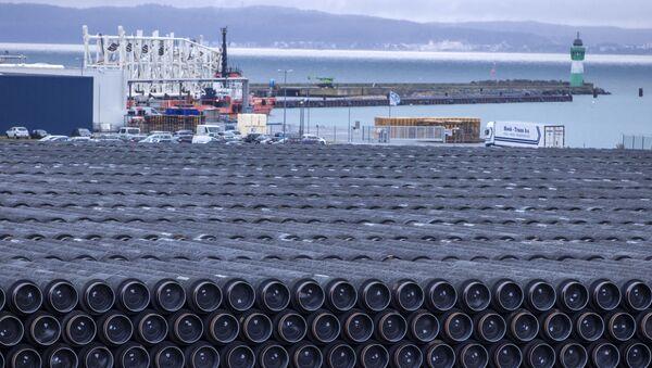 Potrubí na stavbu plynovodu Nord Stream 2 v Německu - Sputnik Česká republika