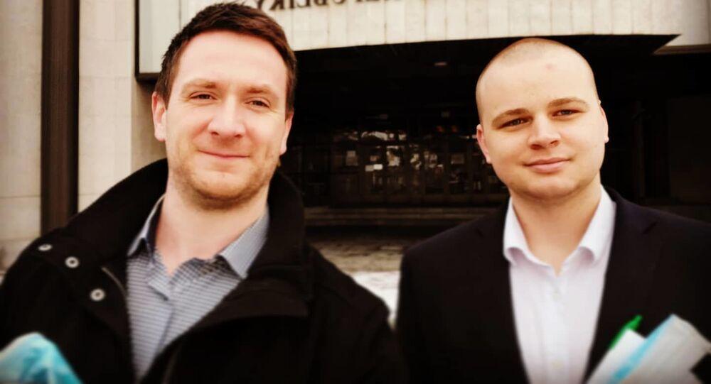 Europoslanec Milan Uhrík a poslanec Milan Mazurek