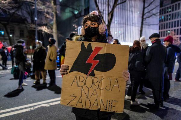 Protestující proti potratům ve Varšavě, Polsko - Sputnik Česká republika