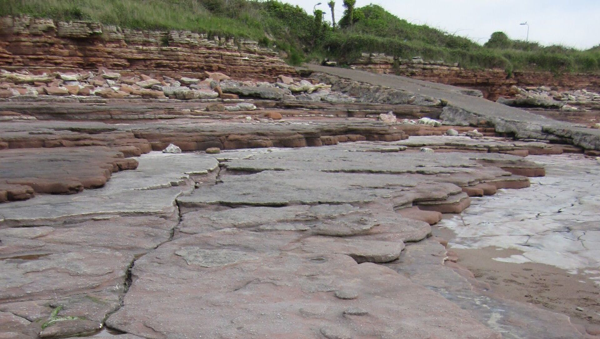 Úsek pobřeží a důležité paleontologické místo v údolí Glamorgan v jižním Walesu Bendrix - Sputnik Česká republika, 1920, 01.02.2021