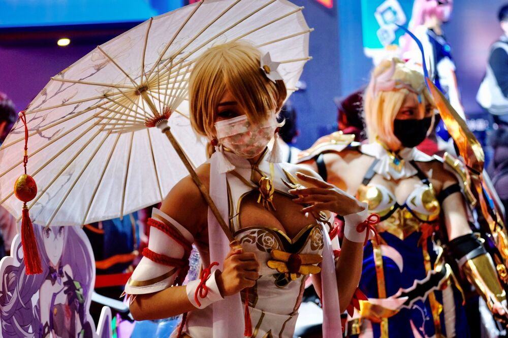 Cosplay modelky na akci Taipei Game Show