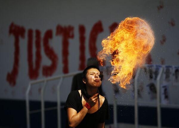 Protesty v Mexiku. - Sputnik Česká republika