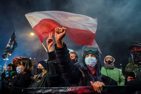 Protesty v Polsku. - Sputnik Česká republika