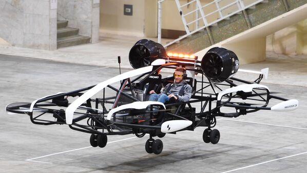 Zkouška taxi-dronu v Moskvě.  - Sputnik Česká republika