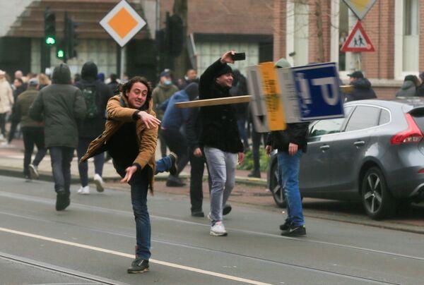 Protesty v Nizozemsku. - Sputnik Česká republika