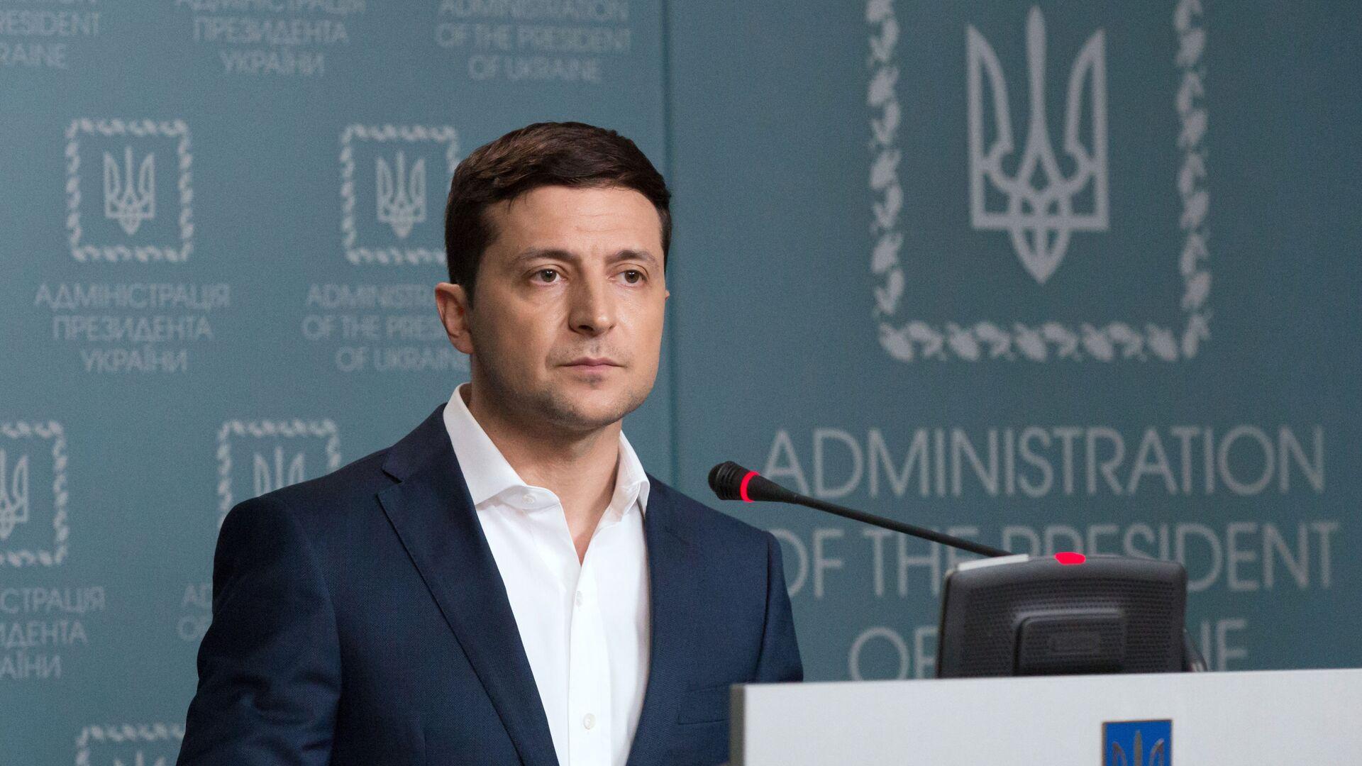 Ukrajinský prezident Volodymyr Zelenskyj v Kyjevě - Sputnik Česká republika, 1920, 01.02.2021