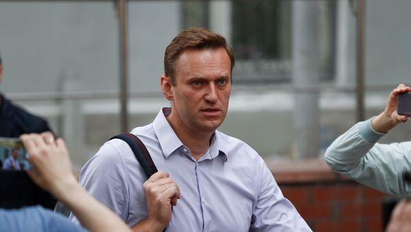 Bloger Alexej Navalnyj v Moskvě - Sputnik Česká republika