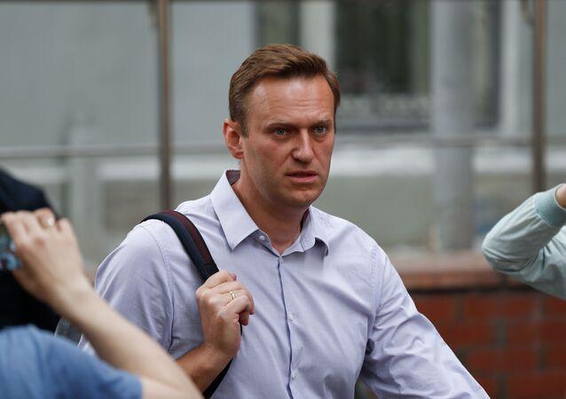 Bloger Alexej Navalnyj v Moskvě