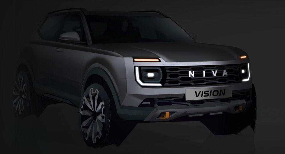 Budoucí vzhled nového auta Lada Niva Vision