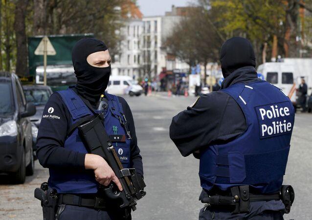 Policie v Bruselu. Ilustrační foto