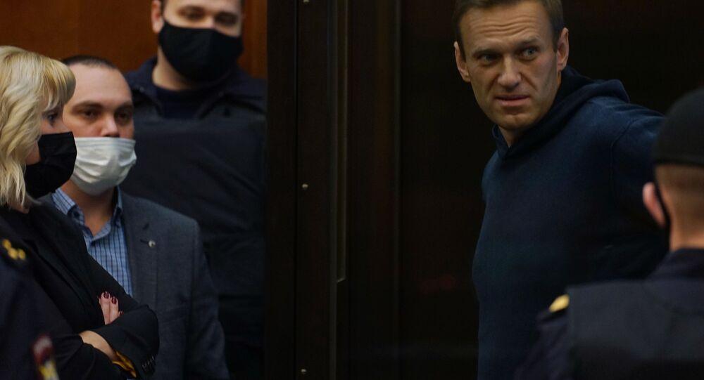 Alexey Navalnyj na jednání moskevského městského soudu