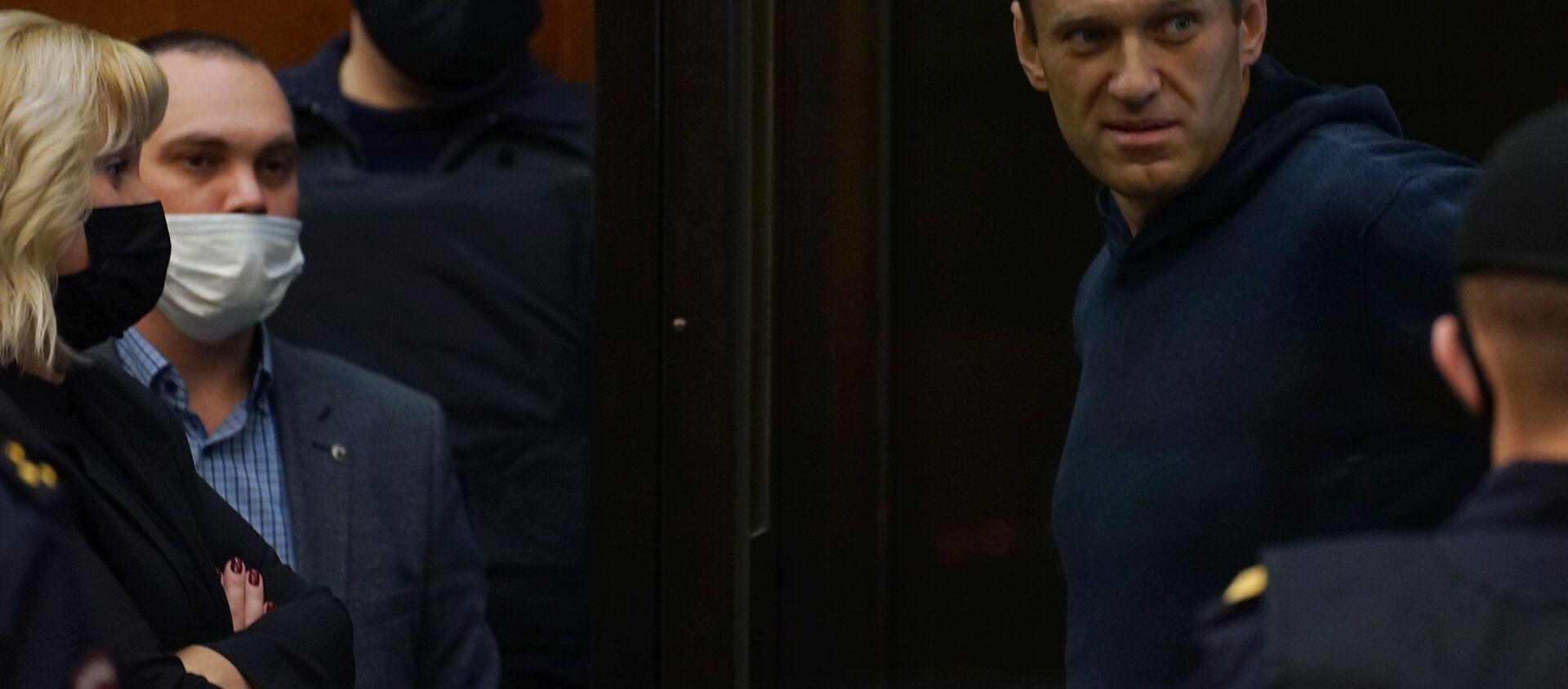 Alexey Navalnyj na jednání moskevského městského soudu - Sputnik Česká republika, 1920, 02.02.2021