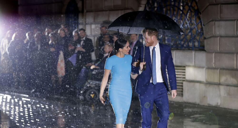 Britský princ Harry a Meghan a vévodkyně ze Sussexu