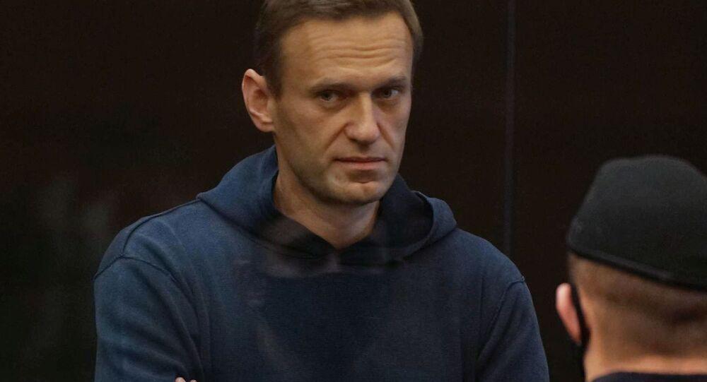 Alexej Navalnyj na zasedání Moskevského městského soudu