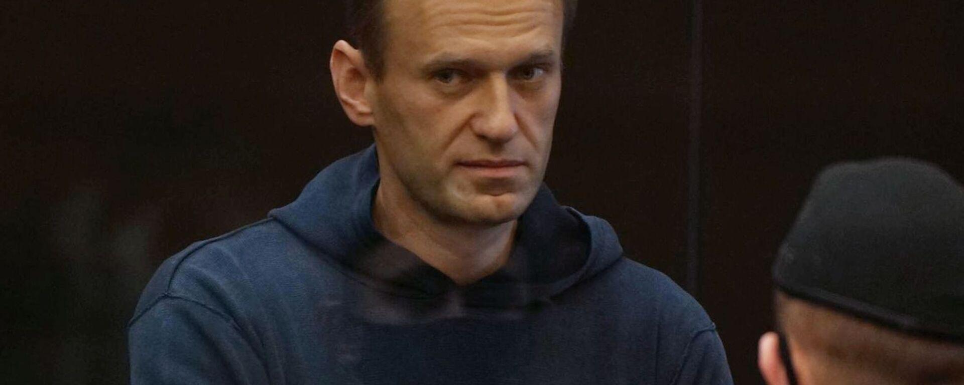 Alexej Navalnyj na zasedání Moskevského městského soudu - Sputnik Česká republika, 1920, 02.02.2021