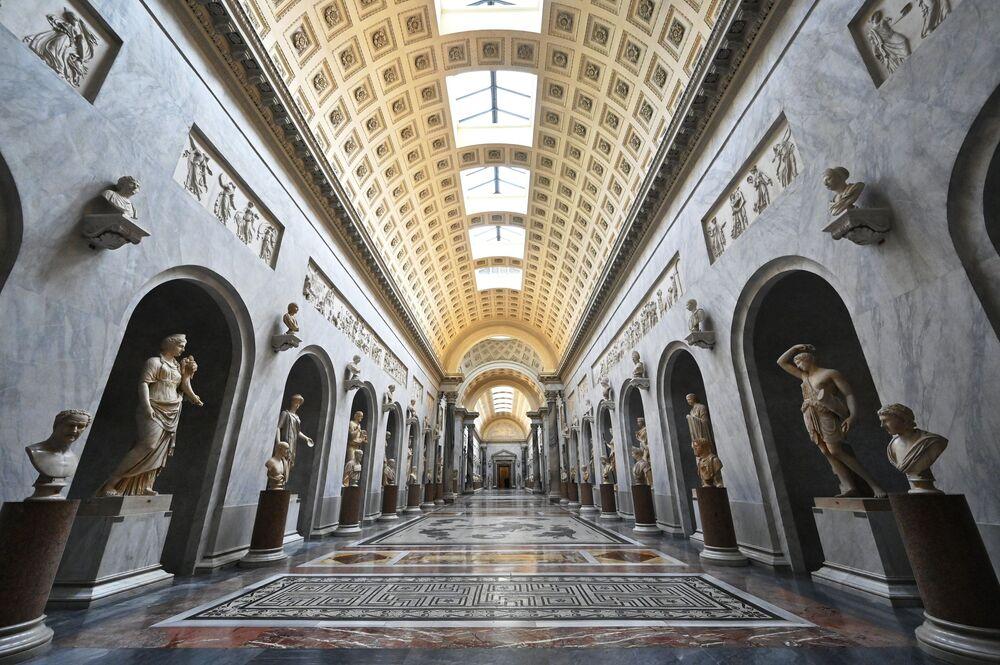Vatikánské muzeum v den svého otevření