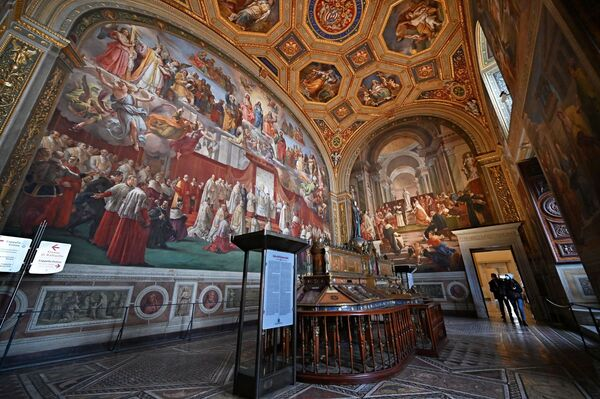 Sala dell'Immacolata ve Vatikánu.  - Sputnik Česká republika
