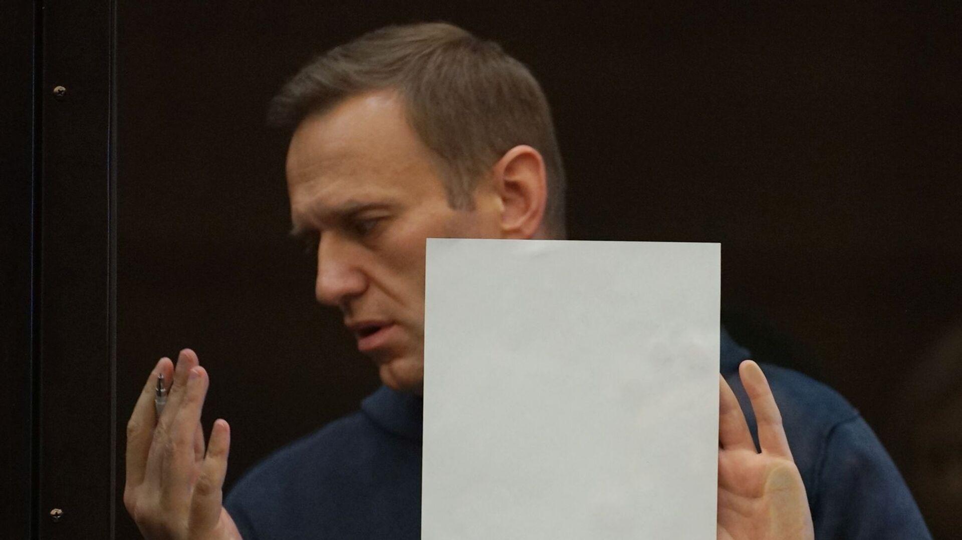 Alexej Navalnyj na zasedání Moskevského městského soudu - Sputnik Česká republika, 1920, 11.07.2021