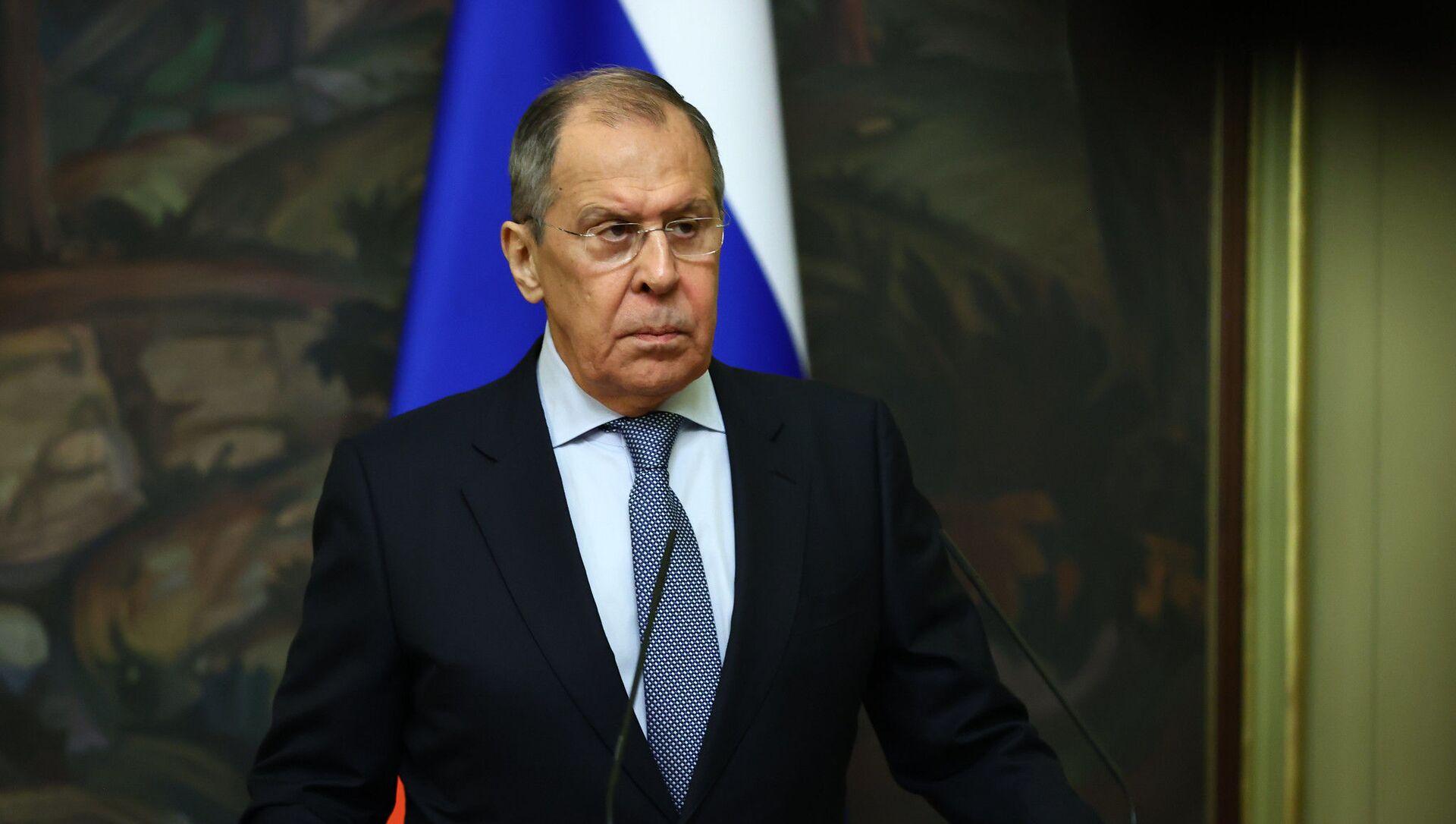 Ministre russe des Affaires étrangères Sergueï Lavrov - République tchèque Spoutnik, 1920, 6 avril 2021
