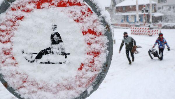 Lidé na sáňkách v Curichu. Ilustrační foto - Sputnik Česká republika