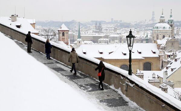 Zasněžená Praha. - Sputnik Česká republika