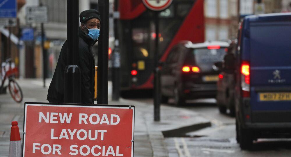 Muž v Londýn. Illustrační foto