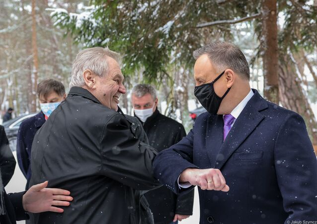 Miloš Zeman a Andrzej Duda