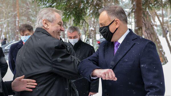 Miloš Zeman a Andrzej Duda - Sputnik Česká republika