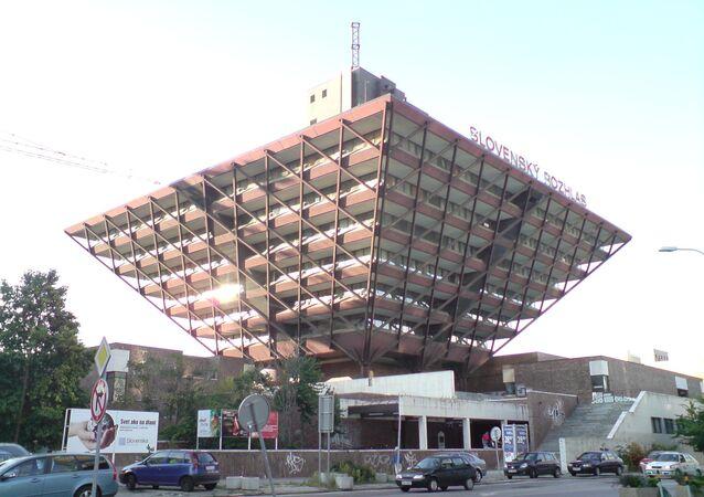 Hlavní budova slovenského rozhlasu v Bratislavě
