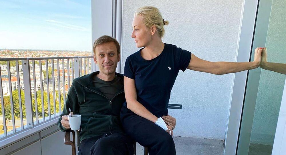 Alexej Navalnyj se svou manželkou Julií