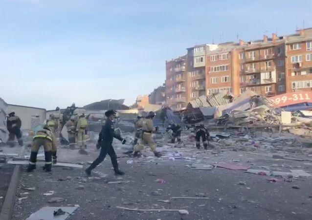 Místo výbuchu ve Vladikavkazu