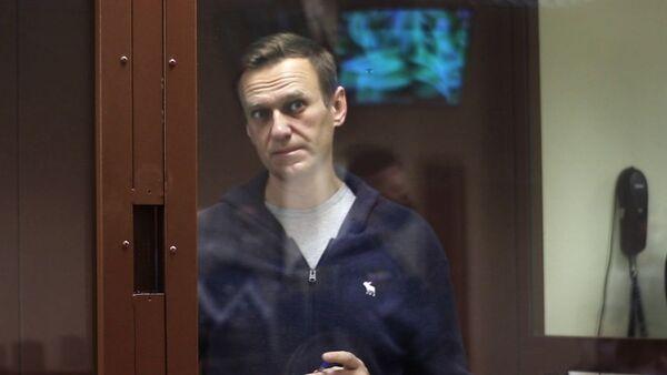 Alexej Navalnyj u soudu - Sputnik Česká republika