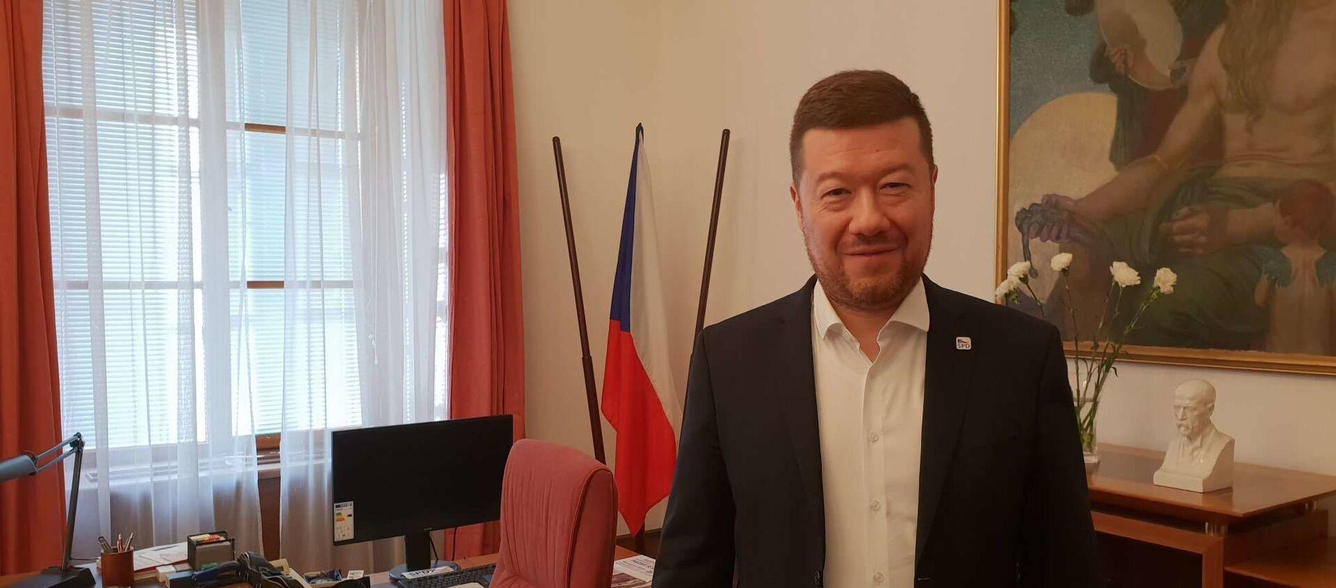 Předseda hnutí SPD Tomio Okamura - Sputnik Česká republika, 1920, 17.02.2021