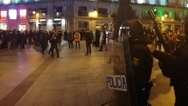 Španělské demonstrace na podporu rappera Pabla Haséla - Sputnik Česká republika