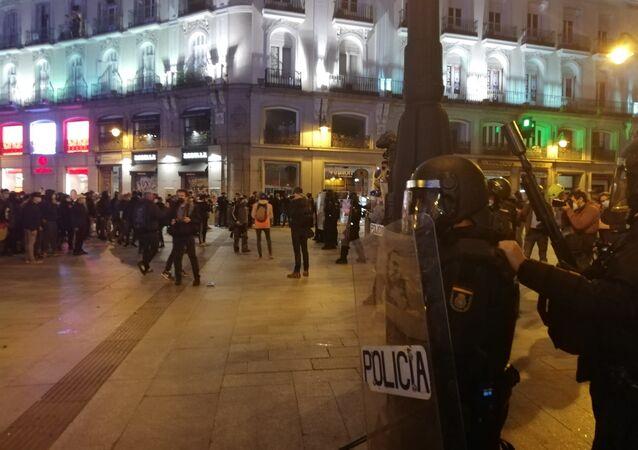 Španělské demonstrace na podporu rappera Pabla Haséla