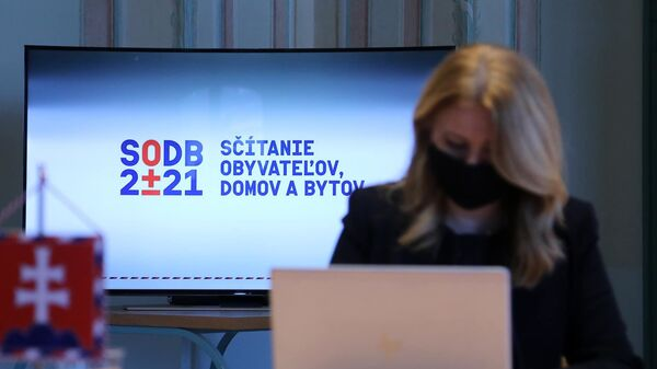 Prezidentka SR Zuzana Čaputová sa v pondelok zapojila do sčítania obyvateľstva - Sputnik Česká republika