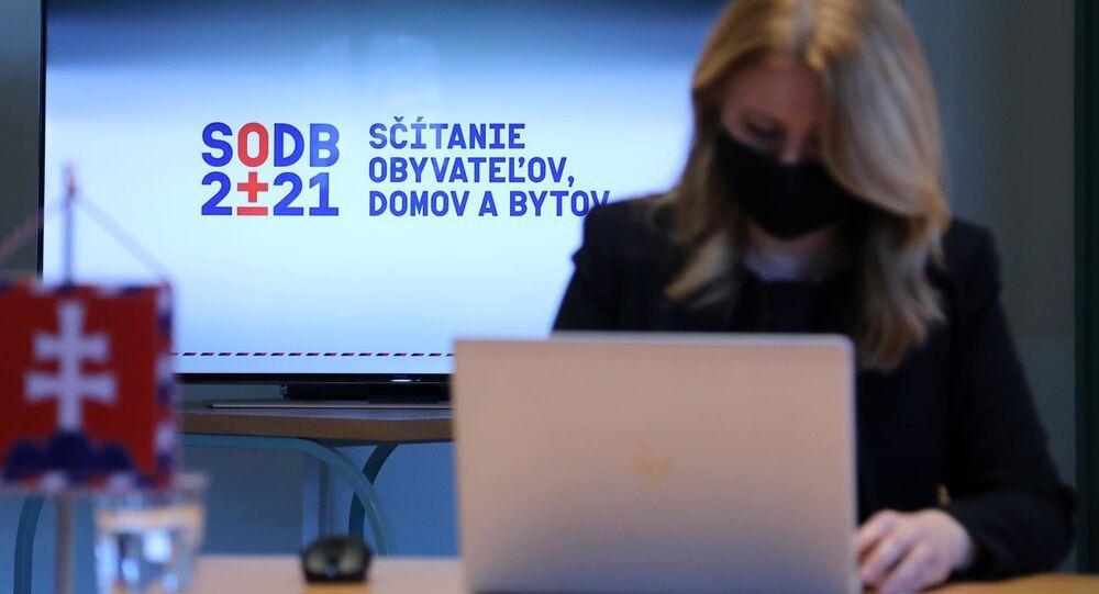 Prezidentka SR Zuzana Čaputová sa v pondelok zapojila do sčítania obyvateľstva