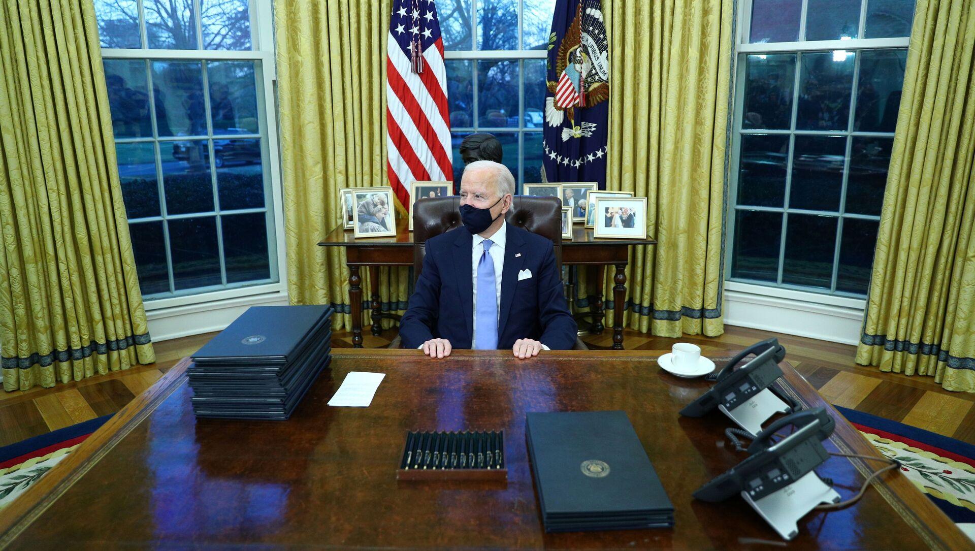 Americký prezident Joe Biden  - Sputnik Česká republika, 1920, 18.03.2021