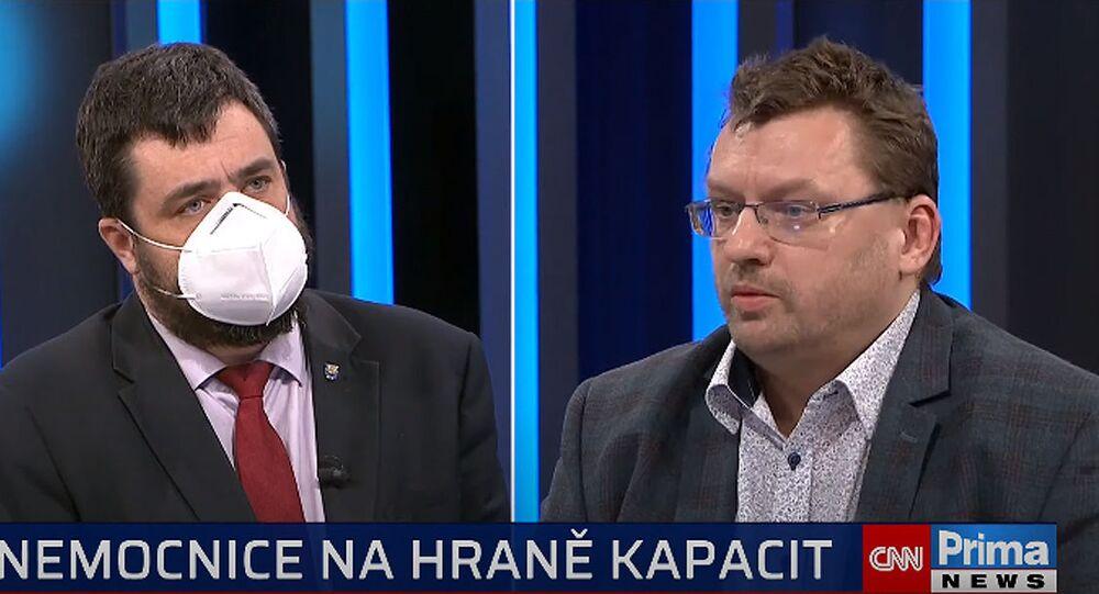 Pavel Novotný a Lubomír Volný. Pořad 360° na CNN Prima News